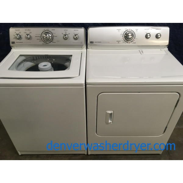 Maytag Energy-Star, Direct-Drive, and HE Washer & Gas Dryer Set, 1-Year Warranty