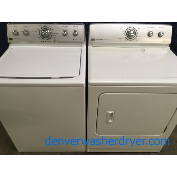 Energy Star Maytag Centennial w/HE Washer & Electric Dryer Set, 1-Year Warranty