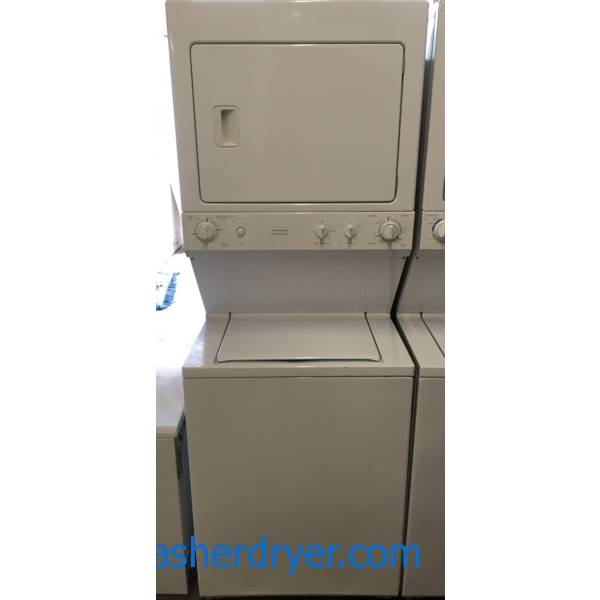 GE Unitized Washer and Dryer Set, Electric, Agitator, 27″ Wide, Quality Refurbished, 1-Year Warranty!