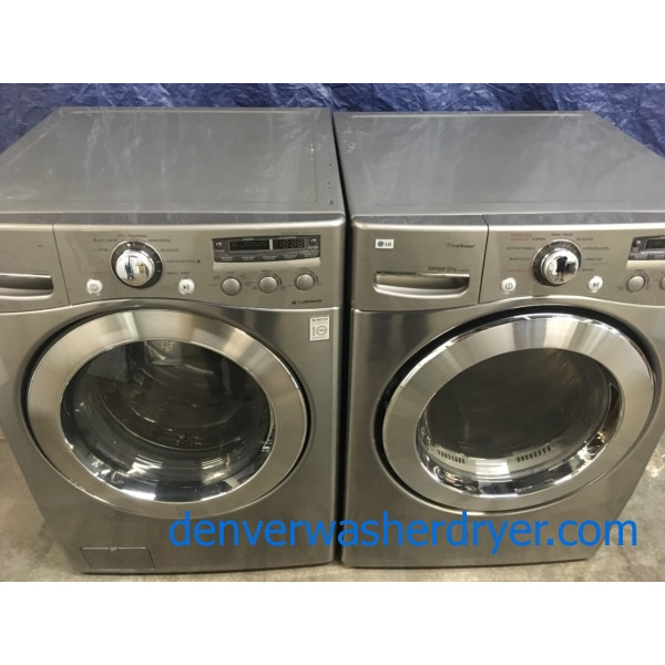 LG Front-Load Direct-Drive Washer & Electric Dryer Set,  1-Year Warranty!