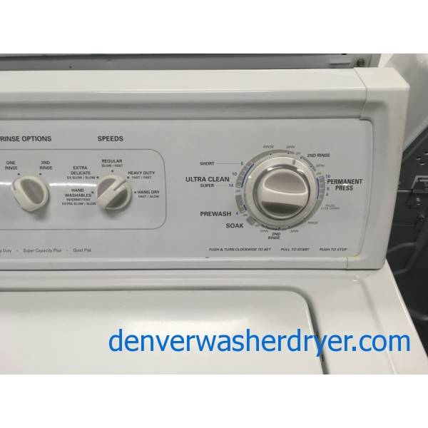 Kenmore 90 Series Top-Load Washer, Agitator, Extra-Rinse Option, Quality Refurbished, 1-Year Warranty!