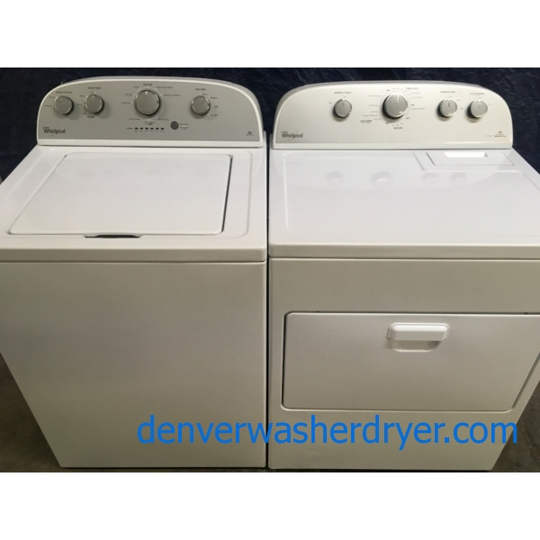 Slick Whirlpool HE Washer & HE Dryer w/Steam, 1-Year Warranty!