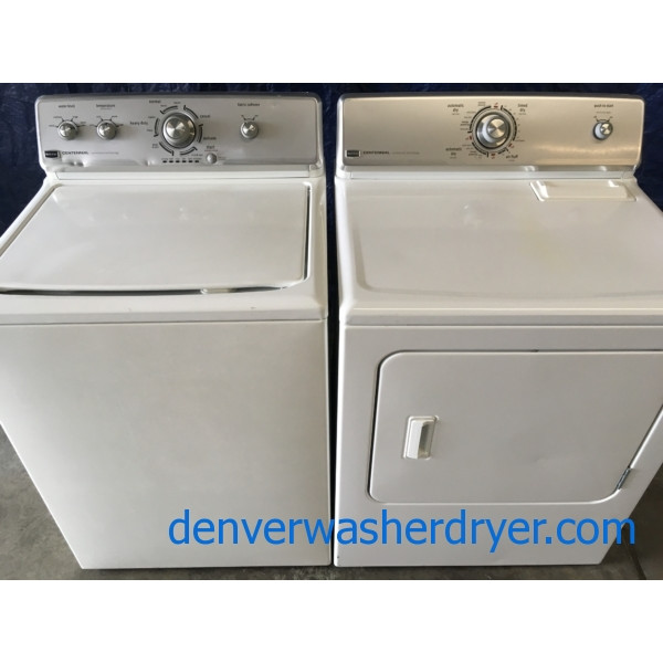 Maytag Centennial w/Commercial Technology Washer & Electric Dryer Set, Full Sized, 1-Year Warranty