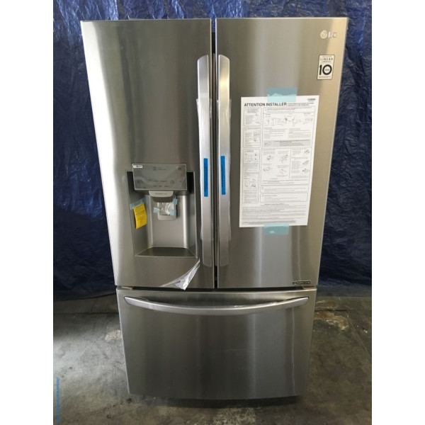 NEW LG 36″ Stainless Refrigerator w/French Door, (28 Cu. Ft.), 1-Year Warranty