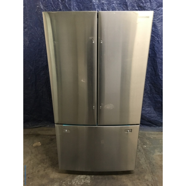 New Samsung 36 Stainless Wfrench Door Refrigerator 26 Cu Ft 1