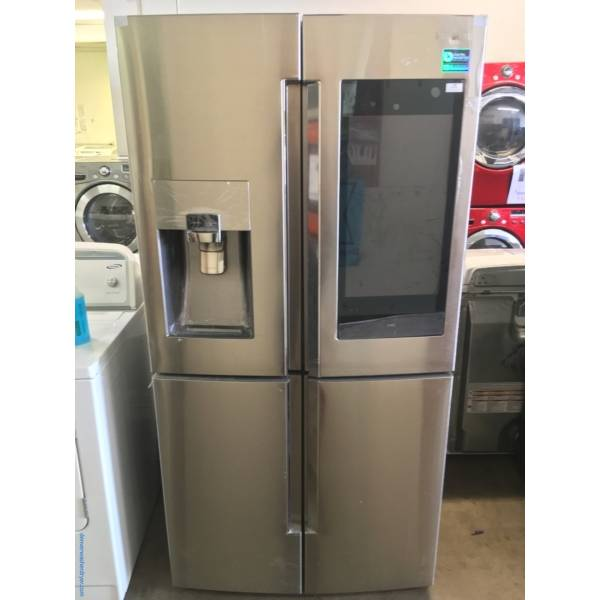 NEW! Stainless Samsung French-Door Refrigerator, FlexDoor, Counter-Depth, Family Hub, Wine Rack, 1-Year Warranty!