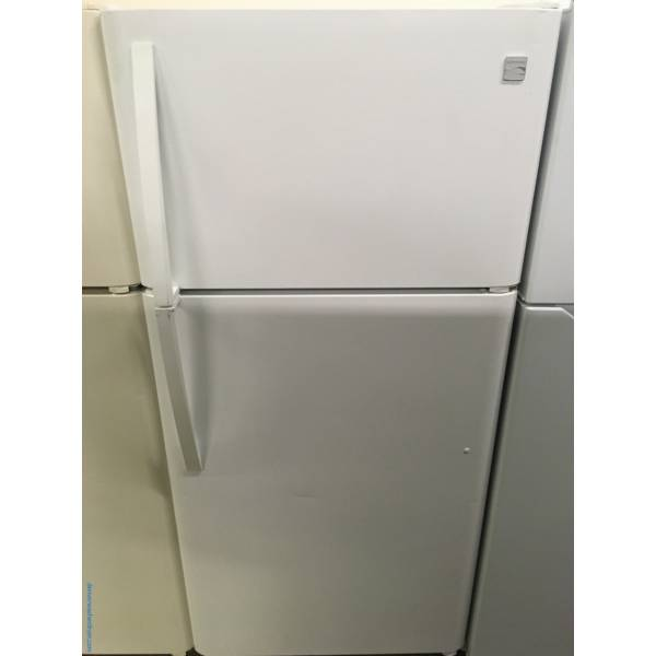 Gleaming White Kenmore Top-Mount Refrigerator, Quality Refurbished, 1-Year Warranty!