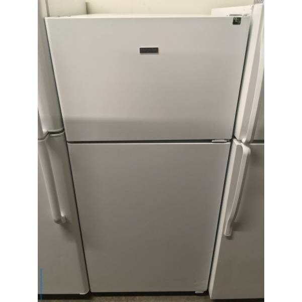 Hotpoint, White, Top-Mount Refrigerator, Quality Refurbished, 1- Year Warranty