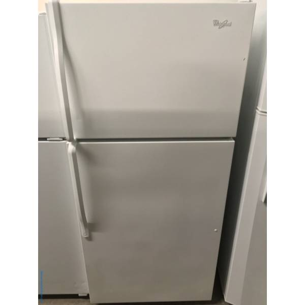 White Whirlpool Top Mount Refrigerator Quality Refurbished 1-Year Warranty
