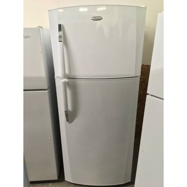 Beautifully Refurbished White Whirlpool Top-Mount Refrigerator 1-Year Warranty