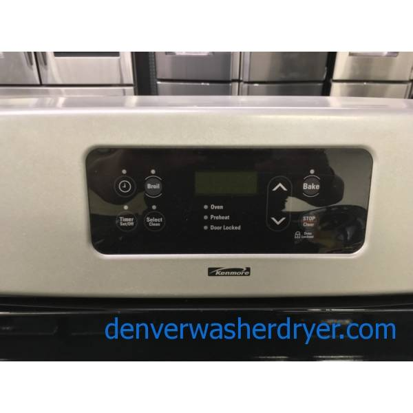 Kenmore Stainless GAS Range, 4 Burners, Self Cleaning, Quality Refurbished, 1-Year Warranty!