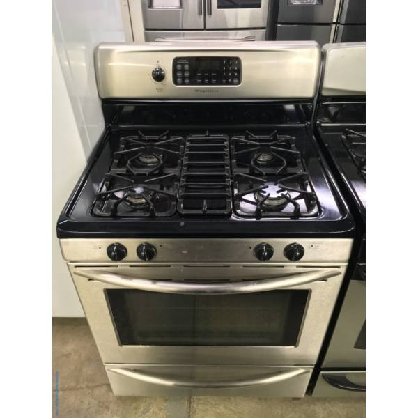 Frigidaire Gallery Stainless Steel GAS Range, 4 Burners, Self Cleaning, Quality Refurbished, 1-Year Warranty!