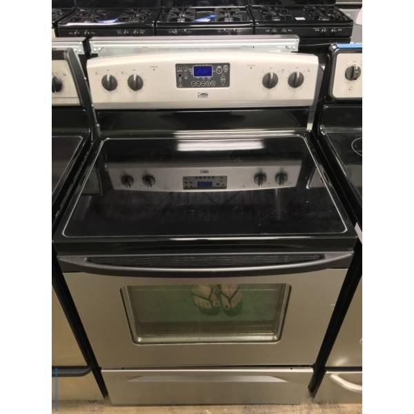 Estate (Whirlpool) Smudge-Proof Electric Range, 4 Burners, Self Cleaning, Quality Refurbished, 1-Year Warranty!