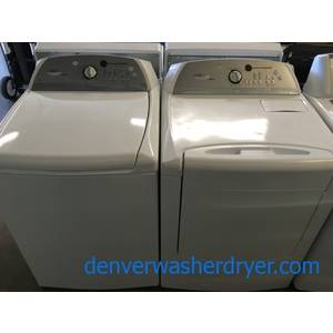 Whirlpool Cabrio Washer and Dryer Set, Electric, Energy-Star Rated, Wrinkle Shield, Clean Washer Cycle, Energy-Star Rated, HE, Quality Refurbished, 1-Year Warranty!