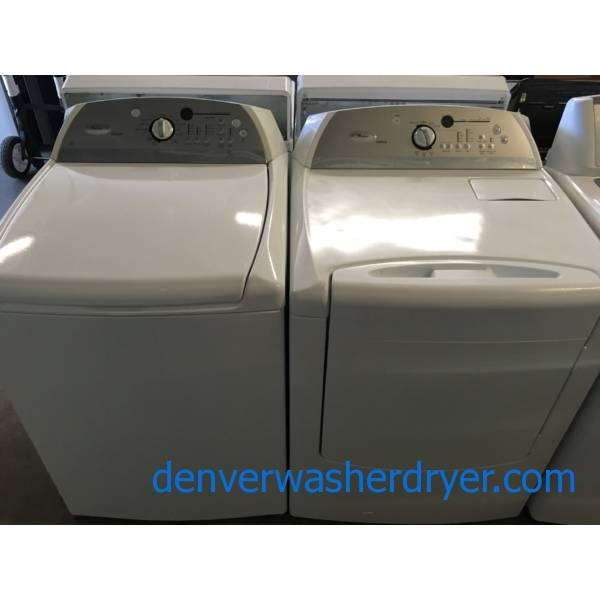 Whirlpool Cabrio Washer and Dryer Set, GAS, Energy-Star Rated, Wrinkle Shield, Clean Washer Cycle, Energy-Star Rated, HE, Quality Refurbished, 1-Year Warranty!