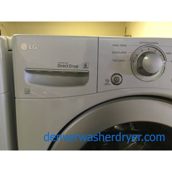 LG White Front-Load Washer w/ Pedestal, Fresh Care, Tub Clean Cycle, 3.5 Cu.Ft. Capacity, Quality Refurbished, 1-Year Warranty!