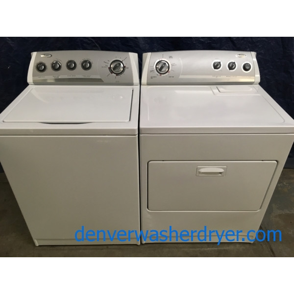 Heavy-Duty Whirlpool Direct Drive Washer & Electric Dryer, Quality Refurbished, 1-Year Warranty
