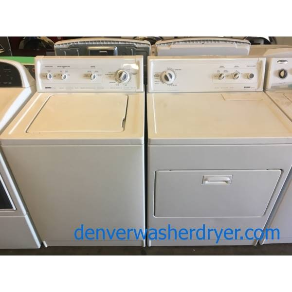 Undisputed G.O.A.T, Kenmore Direct Drive 80 Series Top-Load Washer & Dryer Set Quality Refurbished with 1-Year Warranty INCLUDED!