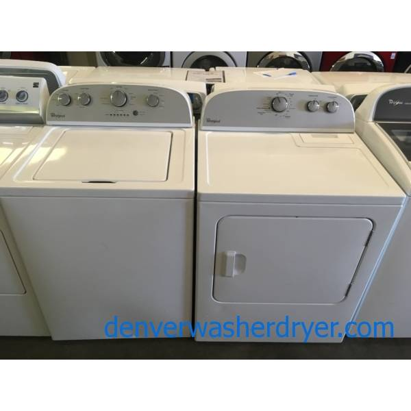 Whirlpool Washer and Dryer Set, Agitator, Electric, Wrinkle Shield Feature, Automatic Dry, Quality Refurbished, 1-Year Warranty!