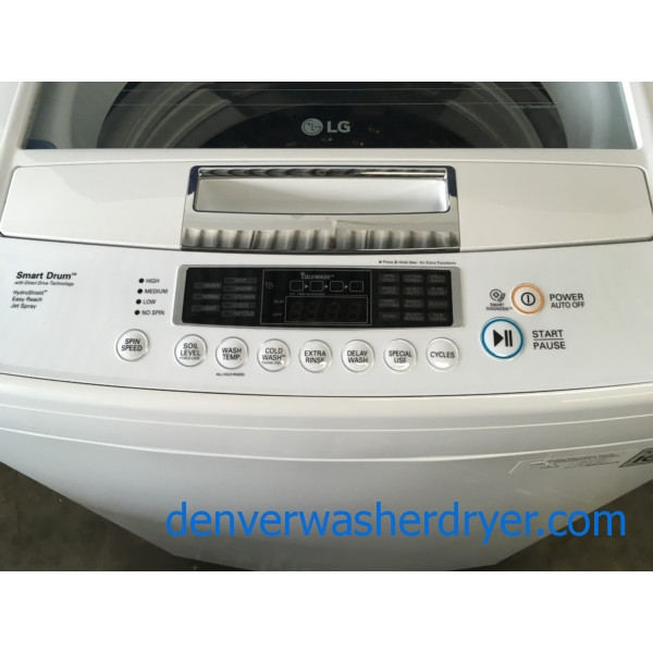 Lg Top Load Smart He Washer With Direct Drive 1 Year