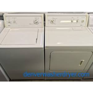 Great Looking Kenmore Top-Load Washer & Dryer Set Quality Refurbished 1-Year Warranty