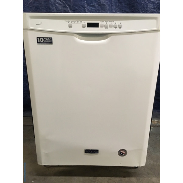 BRAND-NEW Maytag 24″ Built-In Tall Tub Dishwasher with Steam, 1-Year Warranty