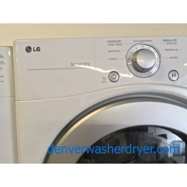 Space Saving LG Front Load Stackable Washer Dryer Set Quality Refurbished 1-Year Warranty