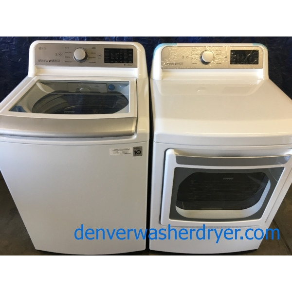 BRAND-NEW LG Smart Top-Load Washer & Smart *GAS* Dryer Set, 1-Year Warranty