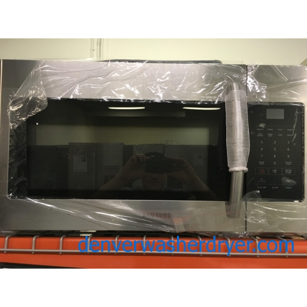 BRAND-NEW Stainless Samsung 30″ Over-the-Range Microwave, 1-Year Warranty