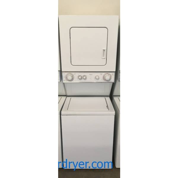 Space Saving Whirlpool Unitized Washer & Dryer Quality Refurbished 1-Year Warranty