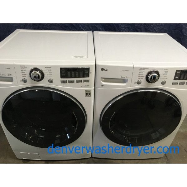 BRAND-NEW 27″ LG HE Front-Load Steam Washer & *GAS* Dryer with Steam, 1-Year Warranty
