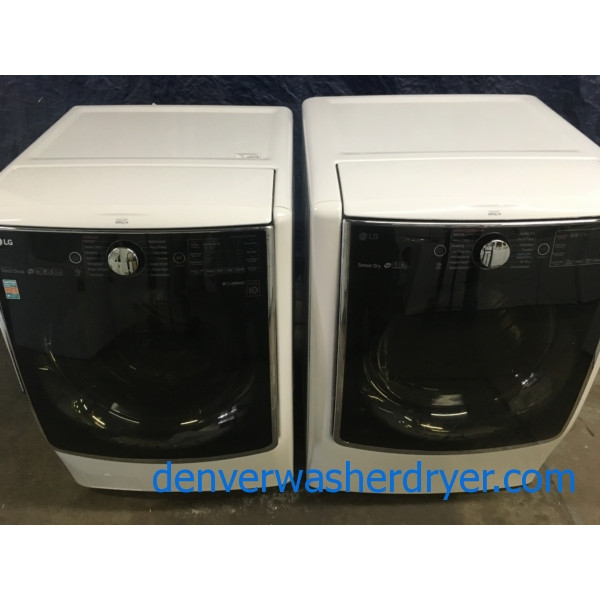 BRAND-NEW 27″ LG HE SMART Front-Load Direct-Drive Washer with Steam & HE SMART *GAS* Dryer with Steam, 1-Year Warranty