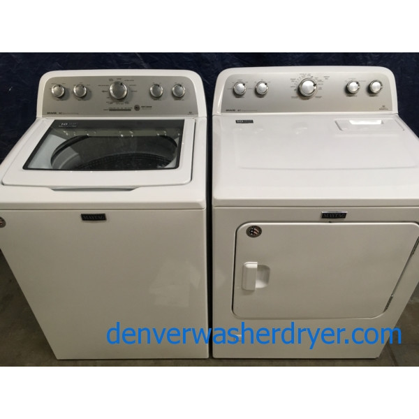 BRAND-NEW Maytag Bravo Series HE Top-Load Washer & Gas Dryer Set, 1-Year Warranty