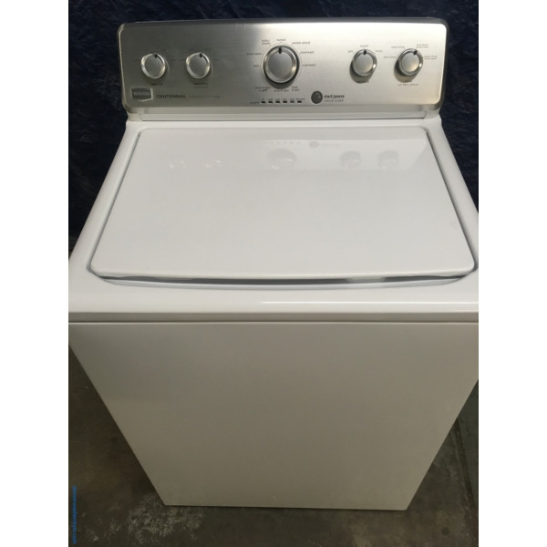27″ Maytag Centennial Full Speed Top-Load Washer with Agitator, 1-Year Warranty