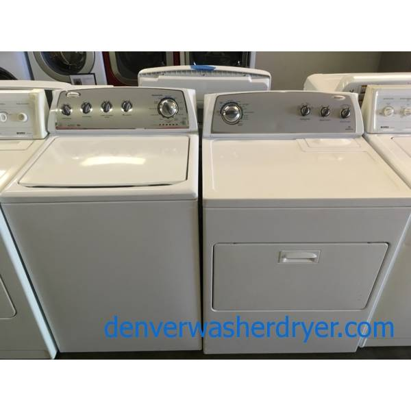 Whirlpool Direct Drive Washer, Dryer Set Quality Refurbushed 1-Year Warranty