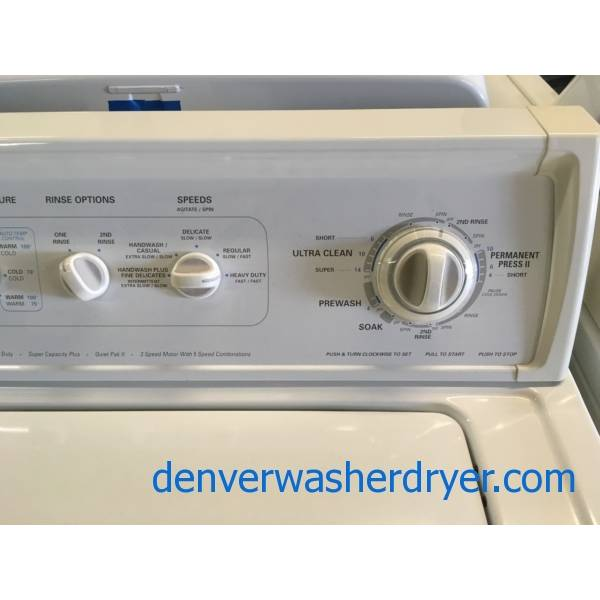 Super Clean Kenmore 90 Series Direct Drive Washer & Dryer Set Quality Refurbished 1-Year Warranty