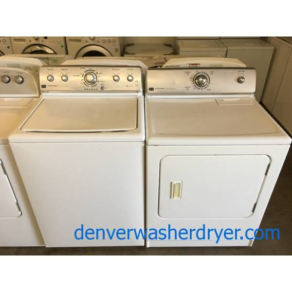 Maytag Centennial Top-Load Washer and Dryer Set, Heavy-Duty, Auto-Load Sensing, HE, Wrinkle Prevent Option, Quality Refurbished, 1-Year Warranty!