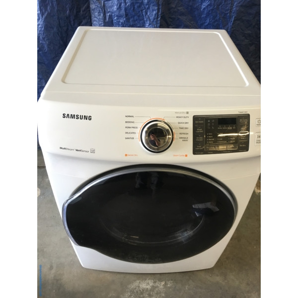 BRAND-NEW Samsung 27″ ENERGY STAR Stackable *GAS* with Steam Dryer, 1-Year Warranty