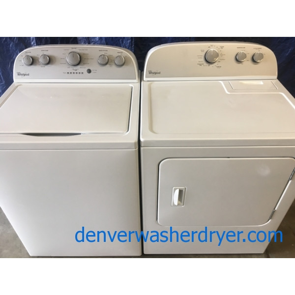 BRAND-NEW Top-Load Whirlpool HE Washer & *Used* Electric Dryer, 1-Year Warranty