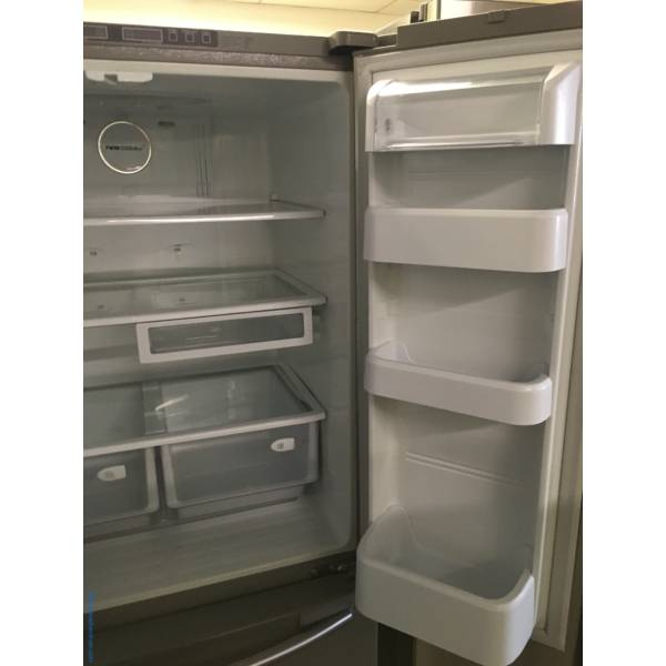 SAMSUNG French-Door Refrigerator, 33″ Wide, Stainless, 20.0 Cu.Ft. Capacity, 1-Year Warranty!