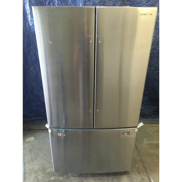 BRAND-NEW Samsung Stainless French Door (25.5 Cu. Ft.) Refrigerator with Internal Water Dispenser, 1-Year Warranty