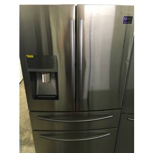 NEW! Scratch/Dent SAMSUNG French-Door Refrigerator, Stainless, FlexZone, 27.8 Cu.Ft. Capacity, Food ShowCase, 1-Year Warranty!