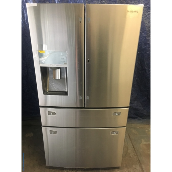 BRAND-NEW Stainless 4-Door French-Doors Samsung (27.8 Cu. Ft.) Refrigerator, 1-Year Warranty