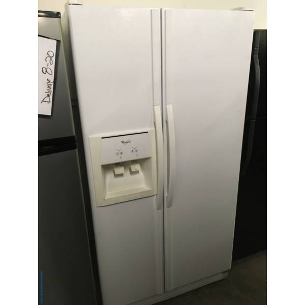 Wonderous Whirlpool Side By Side Refrigerator Quality Refurbished 1-Year Warranty