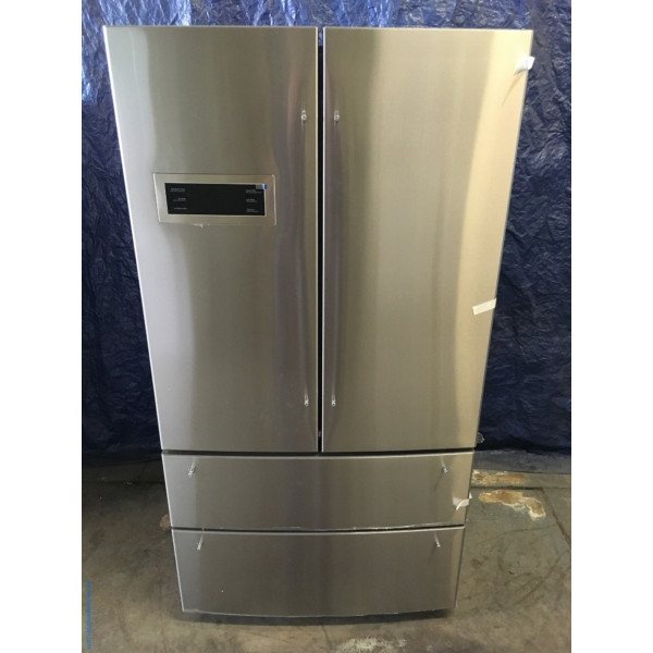 BRAND-NEW 36″ Bosch 800 Series Stainless Counter-Depth 4-Door French Door (20.7 Cu. Ft.) Refrigerator, 1-Year Warranty