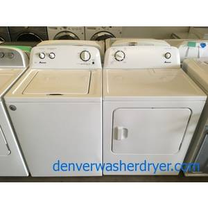 Amana Washer and Dryer Set, HE, Agitator, 4.0 Cu.Ft. Capacity, Wrinkle Prevent, Auto-Load Sensing, Quality Refurbished, 1-Year Warranty!