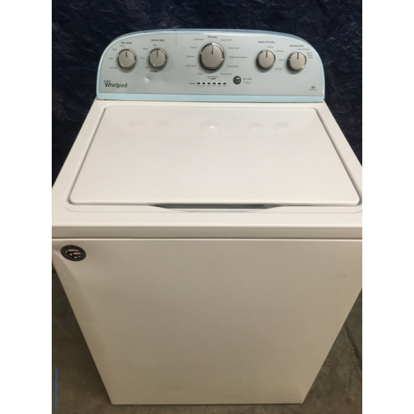 BRAND-NEW Top-Load Whirlpool HE with Agitator Washer, 1-Year Warranty
