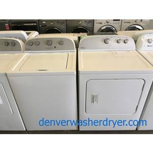 Whirlpool Top-Load Washer and Dryer Set, Agitator, Extra-Rinse Option, Wrinkle Shield, Quality Refurbished, 1-Year Warranty!