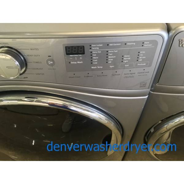 Absolutely Flawless Dark Grey, Whirlpool Front Load Washer/Dryer Set BRAND NEW With Factory Warranty