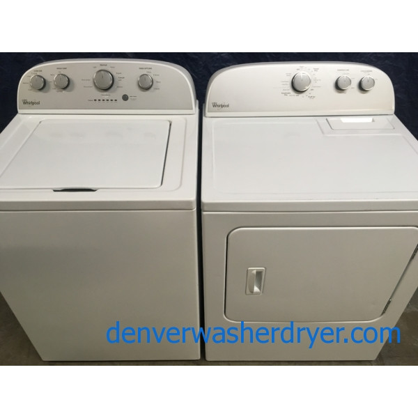 Wonderfully *Used* Whirlpool 27″ Top-Load Washer with Agitator & Electric Dryer Set, Quality Refurbished, 1-Year Warranty